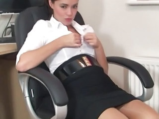 Cute Office Secretary Stripper Teen