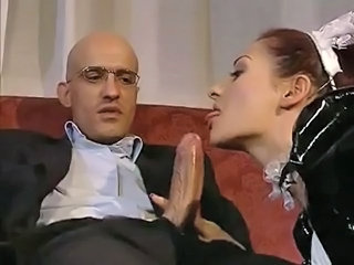 Blowjob European Italian Maid Pornstar Redhead Uniform Italian