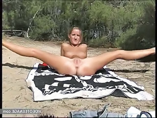 Amateur Beach Flexible Nudist Outdoor Teen