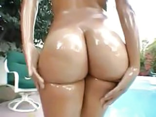 Amazing Ass Latina Oiled Outdoor Pool