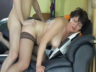 Doggystyle Mature Mom Old and Young Stockings