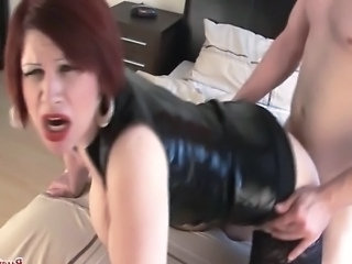 Clothed Doggystyle Hardcore Latex Mature Redhead