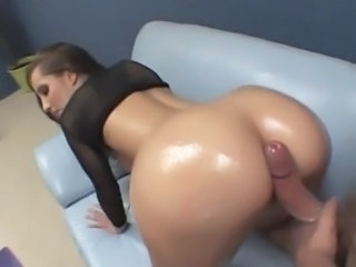 Ass Babe  Doggystyle Oiled Pornstar