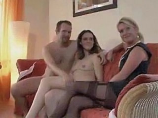 Amateur European German Mature Threesome Boyfriend