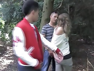 Amateur Outdoor Threesome