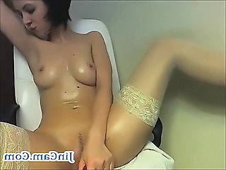 Masturbating Solo Stockings Teen Toy Webcam