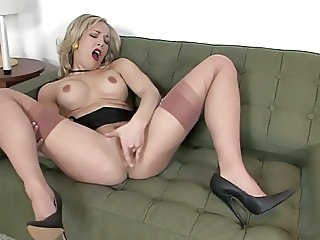 Masturbating  Orgasm Solo Stockings