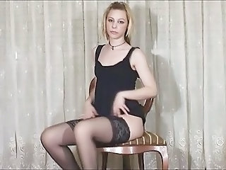 Amateur Casting Solo Stockings Teen