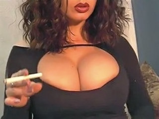Amazing Big Tits Fetish  Smoking