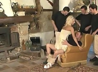Blonde Clothed Gangbang Hardcore  Riding