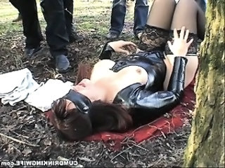 Fetish Gangbang Latex  Outdoor Stockings Public