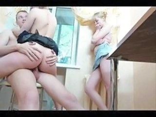Riding Teen Threesome