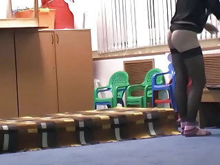 Ass HiddenCam Stockings Voyeur