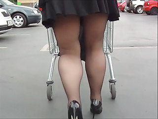 Legs Public Skirt Stockings Voyeur