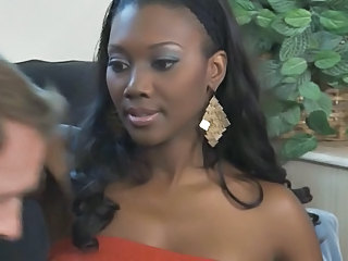 Ebony Interracial  Pornstar