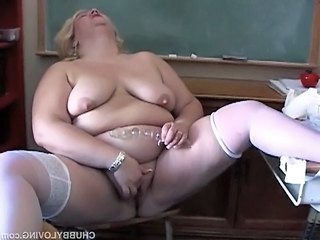Masturbating Mature Mom Orgasm  School Stockings Teacher