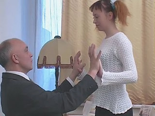 Daddy Old and Young Redhead Teacher Teen