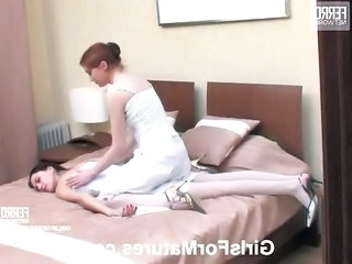 Lesbian  Old and Young Stockings Teen