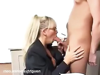 Blowjob Glasses Mature Mom Old and Young