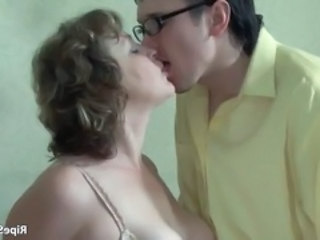 Kissing Mature Mom Old and Young