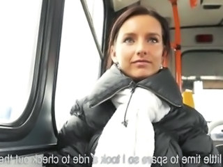Amateur Bus Cash  Pov Public