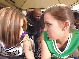 Cheerleader Interracial Teen Uniform