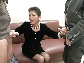 European German Handjob Mature Secretary Threesome