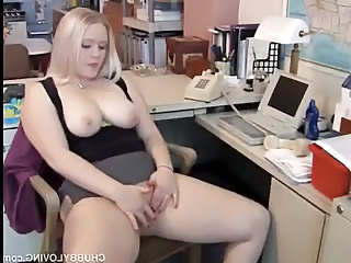 Chubby Masturbating  Natural Office Secretary