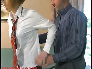 Daddy Glasses Old and Young Redhead Student Teacher Teen Uniform
