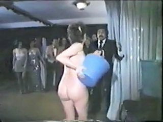 Funny Nudist Party Vintage Surprise