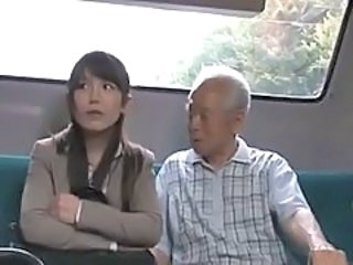 Asian Daddy Japanese  Old and Young Public Grandpa