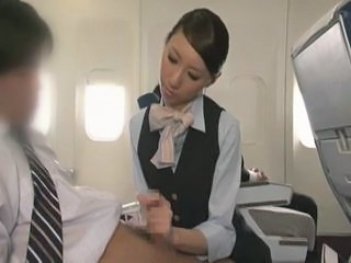 Asian Handjob  Public Uniform