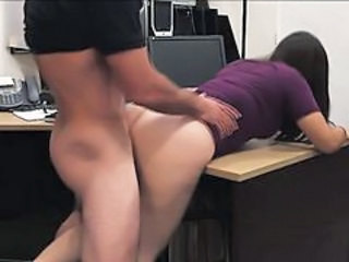 Clothed Doggystyle Hardcore Office Caught