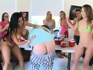 Femdom Party Spanking College