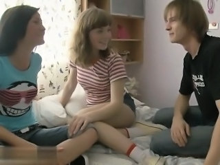 Teen Threesome Domination