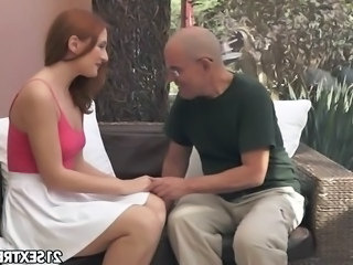 Daddy Daughter Old and Young Redhead Teen