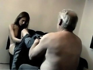 Daddy Daughter Old and Young Skinny Teen
