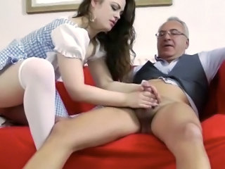 Babe Daddy Handjob Old and Young