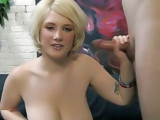 Big Tits Cute Handjob  Natural