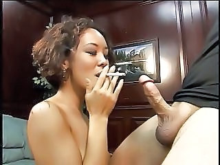Asian  Fetish Interracial Smoking