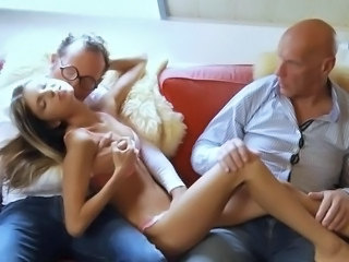 Daddy Gangbang Old and Young Skinny Teen