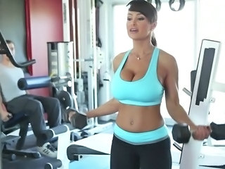 Amazing Big Tits  Pornstar Sport Gym
