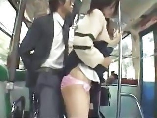 Asian Bus Clothed  Public