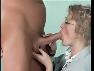 Amateur Blowjob Glasses Mature Older Wife