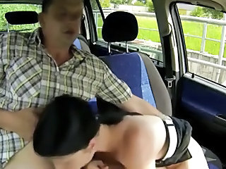 Amateur Blowjob Cash Car Teen
