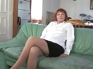 European French Mature Redhead Huge French