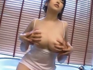 Amazing Asian Bathroom Big Tits Japanese  Natural