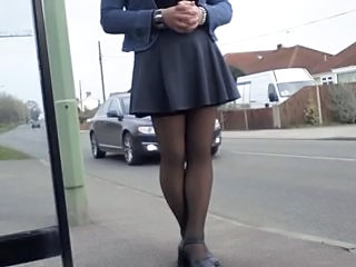 Legs Outdoor Public Skirt Stockings