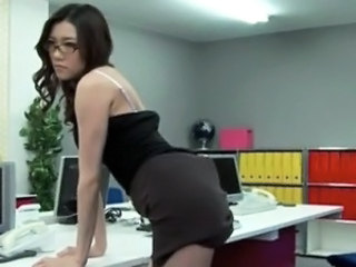 Amazing Asian Cute Glasses Japanese  Office Pornstar Secretary
