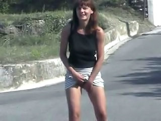 Amateur Masturbating Outdoor Public Skirt